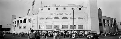Stadium Scene Photograph - People Outside A Baseball Park, Old by Panoramic Images