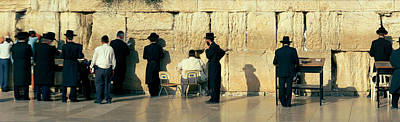 Western Wall Photograph - People Praying At Wailing Wall by Panoramic Images