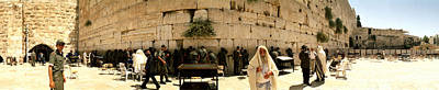 Wailing Wall Photograph - People Praying In Front Of The Wailing by Panoramic Images