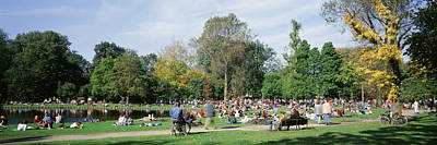 Crowd Scene Photograph - People Relaxing In The Park, Vondel by Panoramic Images
