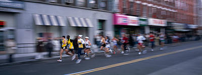 Greenpoint Photograph - People Running In New York City by Panoramic Images