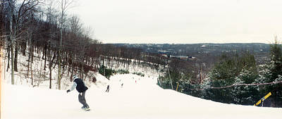 Snowboarding Photograph - People Skiing And Snowboarding by Panoramic Images