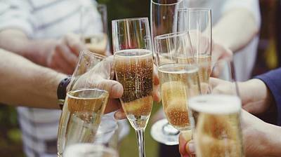 Photograph - People Toasting With Champagne Flute by Viktoria Rodriguez / Eyeem