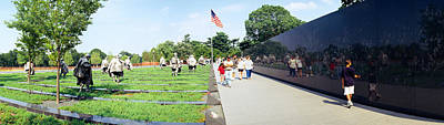 Korean War Memorial Photograph - People Visiting The Korean War by Panoramic Images