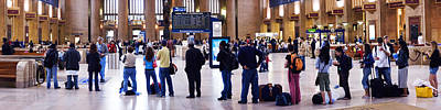 Railroad Station Photograph - People Waiting In A Railroad Station by Panoramic Images