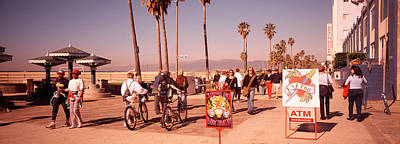 Venice Beach Photograph - People Walking On The Sidewalk, Venice by Panoramic Images