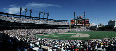 Detroit Tigers Photograph - People Watching Baseball Match by Panoramic Images