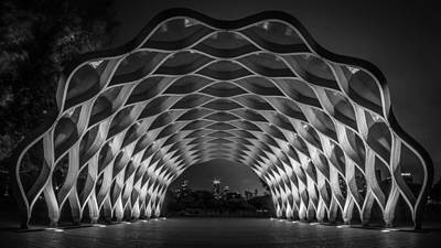 Photograph - People's Gas Pavilion Monochrome by Randy Scherkenbach