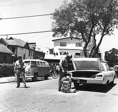 Police Cars Photograph - People's Park Pepper Gas by Underwood Archives Grierson