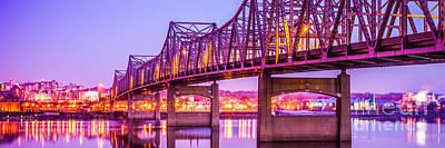 Peoria Photograph - Peoria Illinois Bridge Panorama Photo by Paul Velgos