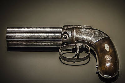 Photograph - Pepper Box Revolver by Bradley Clay
