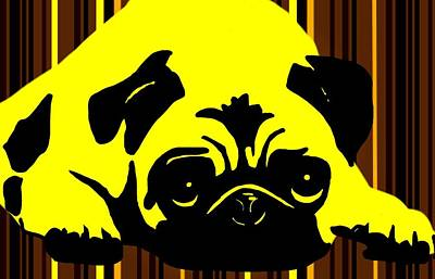 Pug Digital Art - Pepper Jack by Cindy Edwards