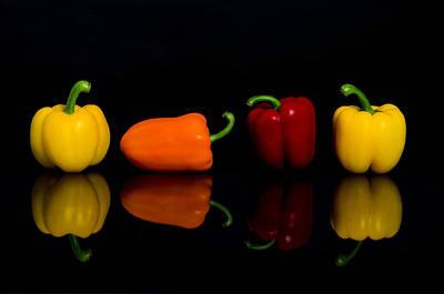 Pop Art - Pepper Reflections by Linda Mcfarland