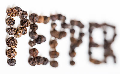Art Print featuring the photograph Peppercorns by Gary Gillette