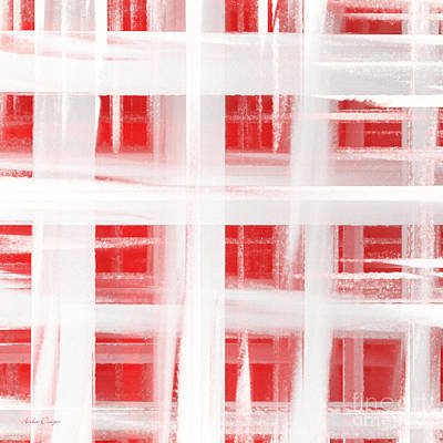 Digital Art - Peppermint Plaid 2 Abstract by Andee Design