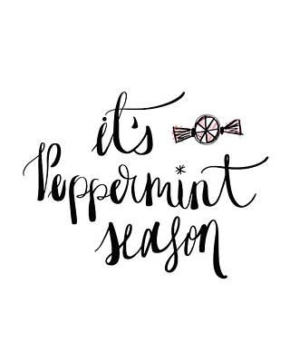 Peppermint Painting - Peppermint Season by Tara Moss