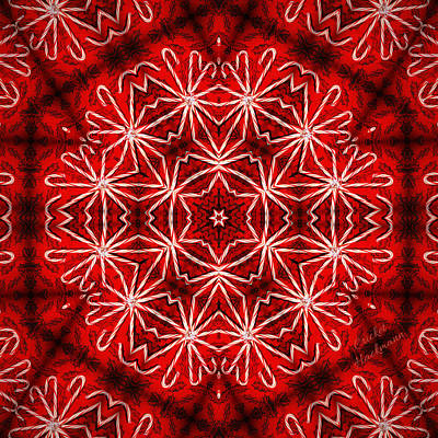 Peppermint Snowflake Art Print by Cricket Hackmann