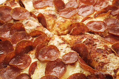 Photograph - Pepperoni Pizza 25 by Andee Design