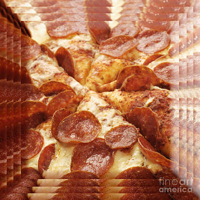 Pepperoni Pizza 25 Pyramid Art Print