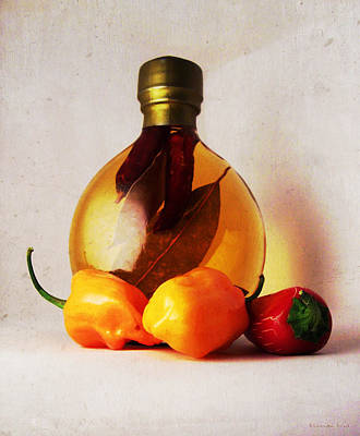 Photograph - Peppers And Oil by Shawna Rowe