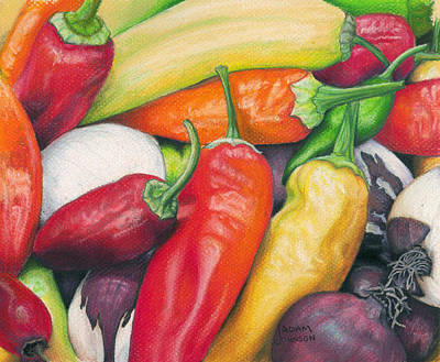 Painting - Peppers And Onions by Adam Johnson