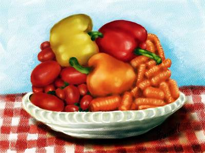 Peppers And Such Art Print by Ric Darrell
