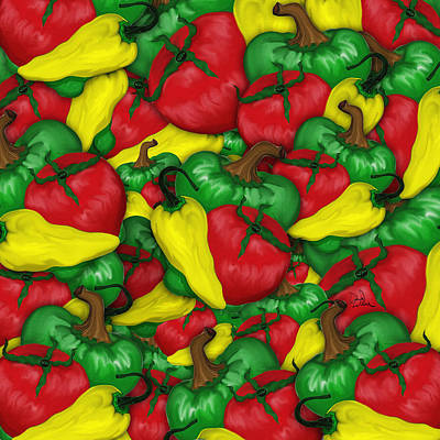 Music Figurative Potraits - Peppers and Tomatos by Doug LaRue
