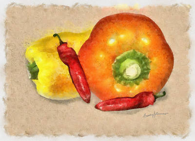 Peppers Art Print by Anthony Caruso