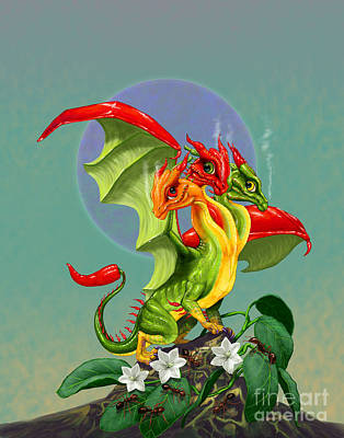 Peppers Dragon Art Print by Stanley Morrison