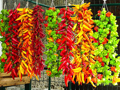 Peppers For Sale Art Print by Mike Ste Marie