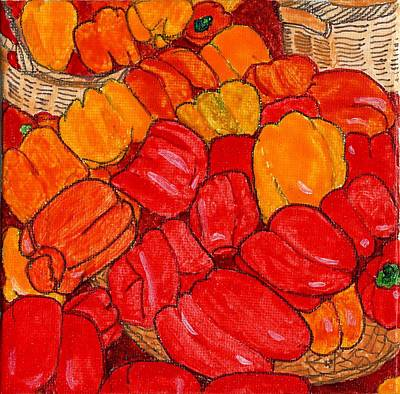 Peppers Galore Art Print by Phil Strang