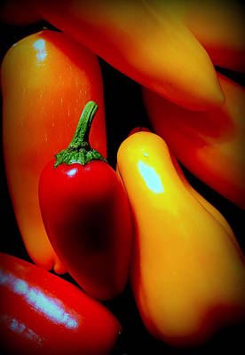 Photograph - Peppers by Guy Pettingell