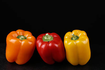 Photograph - Peppers Healthy Food by Marek Poplawski