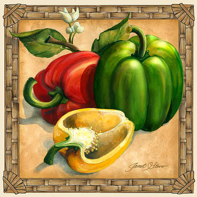 Americana Licensing Painting - Peppers by Janet Stever