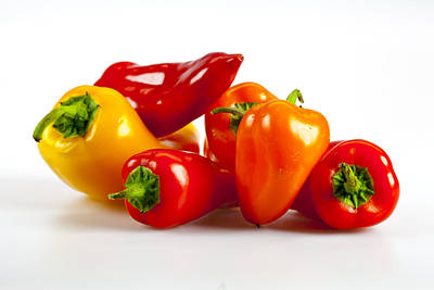 Photograph - Peppers by John Crothers