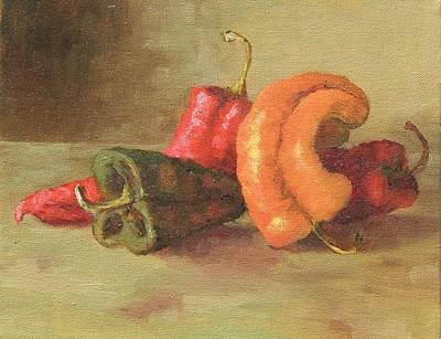 Painting - Peppers by Marlene Kingman