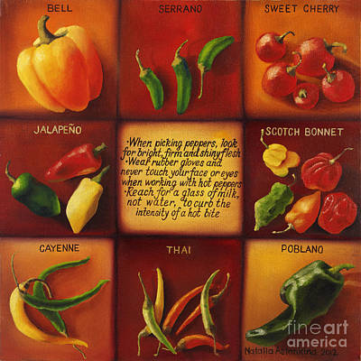 Painting - Pepper Facts  by Natalia Astankina
