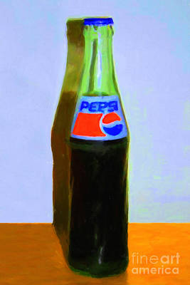 Pepsi Cola Bottle Art Print by Wingsdomain Art and Photography