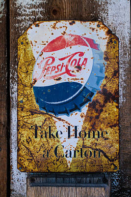 Photograph - Pepsi Cola Sign by Roger Mullenhour