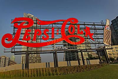 Neon Photograph - Pepsi Cola by Susan Candelario