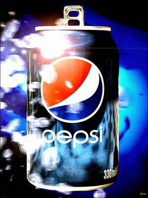 Pepsi Art Print by Daniel Janda