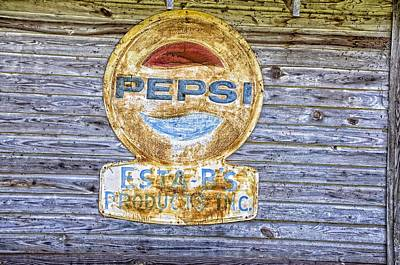 Photograph - Pepsi Sign by Jan Amiss Photography