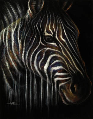 African Animal Drawing - Perception by Danielle Trudeau