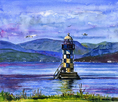 Painting - Perch Lighthouse Glasgow Scotland by John D Benson