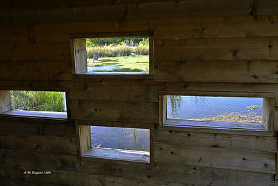 Photograph - Perch Pond Blind by Allen Sheffield