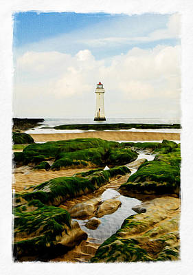 Digital Art - Perch Rock Lighthouse by Alan Sherlock