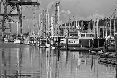 Photograph - Percival Landing In Black And White by Jeanette C Landstrom