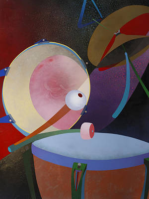 Abstract Drum Painting - Percuss by Fred Chuang