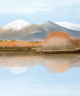Pastel - Percy Peaks by Bruce Richardson