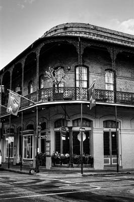 Pere Antoine Restaurant In Black And White Art Print by Chrystal Mimbs